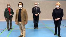 Vorfreude auf den Wahlkampf: Anja Altmann, Jan Wendorf, Klaas Warnecke und Cornelia Feske.©Wendorf
